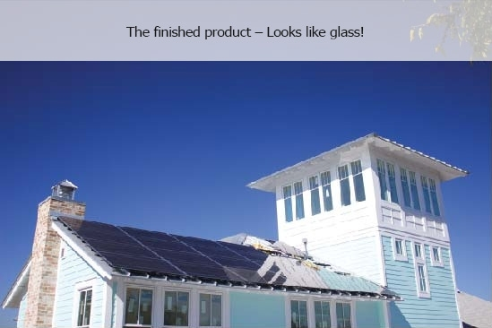 The finished product – Looks like glass!