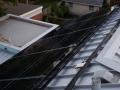 Comfort Engineered Systems installing Lumos LSX frameless 255 with solar panels.