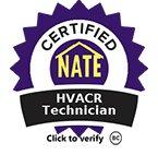 Certified HVACR technician
